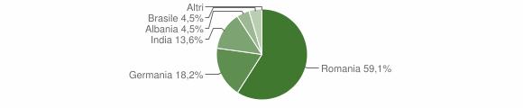 Grafico cittadinanza stranieri - Cirigliano 2018