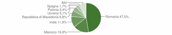 Grafico cittadinanza stranieri - Tramutola 2018