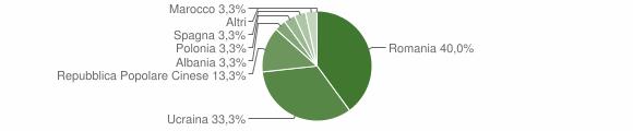 Grafico cittadinanza stranieri - Rotonda 2009