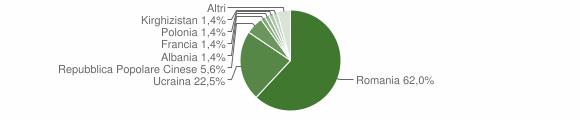 Grafico cittadinanza stranieri - Rotonda 2012