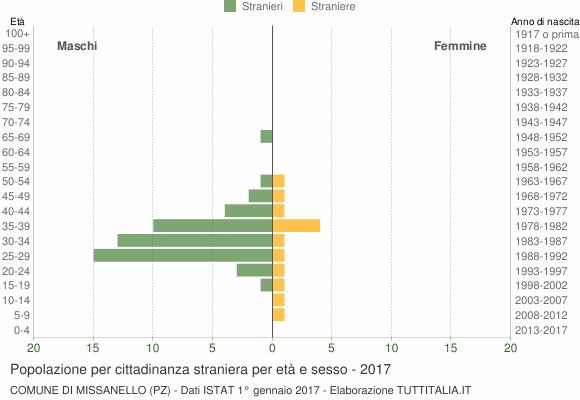 Grafico cittadini stranieri - Missanello 2017
