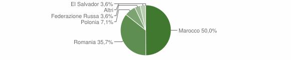 Grafico cittadinanza stranieri - San Martino d'Agri 2018