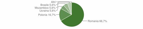 Grafico cittadinanza stranieri - San Severino Lucano 2013