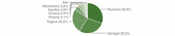 Grafico cittadinanza stranieri - San Severino Lucano 2015