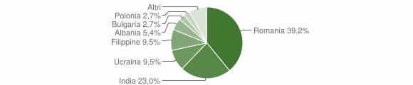 Grafico cittadinanza stranieri - Atella 2013