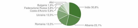 Grafico cittadinanza stranieri - Filiano 2019