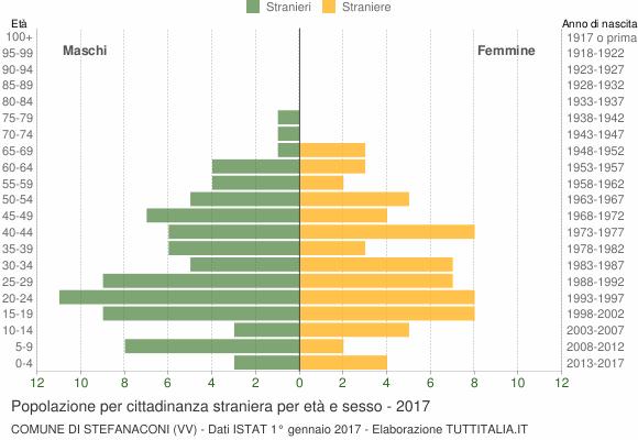 Grafico cittadini stranieri - Stefanaconi 2017