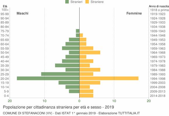 Grafico cittadini stranieri - Stefanaconi 2019