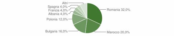 Grafico cittadinanza stranieri - Amaroni 2010