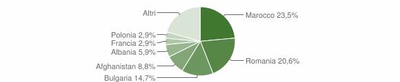 Grafico cittadinanza stranieri - Amaroni 2019