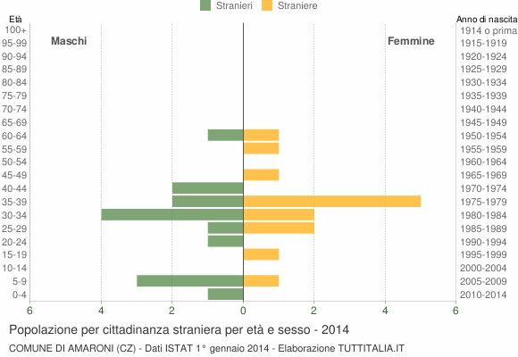 Grafico cittadini stranieri - Amaroni 2014