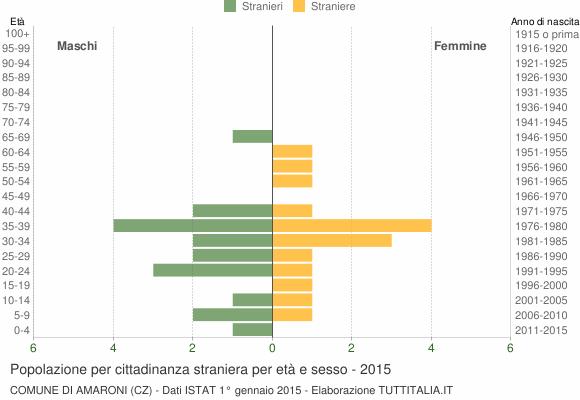 Grafico cittadini stranieri - Amaroni 2015