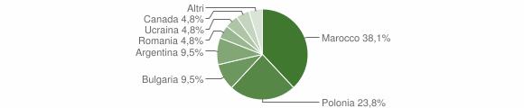 Grafico cittadinanza stranieri - Fossato Serralta 2013