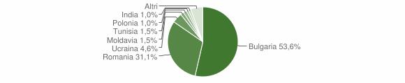 Grafico cittadinanza stranieri - Oppido Mamertina 2013