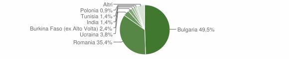 Grafico cittadinanza stranieri - Oppido Mamertina 2014