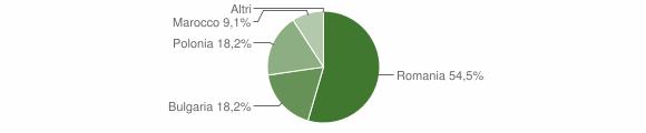 Grafico cittadinanza stranieri - San Nicola dell'Alto 2011