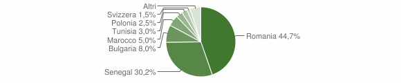 Grafico cittadinanza stranieri - San Pietro a Maida 2010