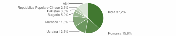 Grafico cittadinanza stranieri - Bovalino 2013
