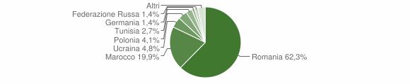 Grafico cittadinanza stranieri - Rose 2011