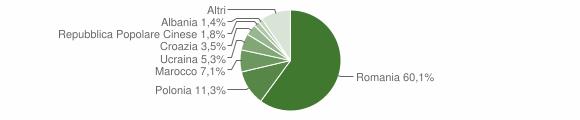 Grafico cittadinanza stranieri - Tortora 2019