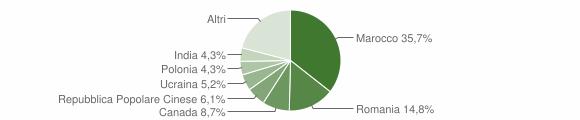 Grafico cittadinanza stranieri - Chiaravalle Centrale 2008