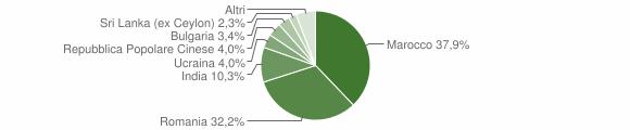 Grafico cittadinanza stranieri - Chiaravalle Centrale 2016