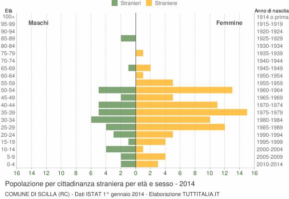 Grafico cittadini stranieri - Scilla 2014