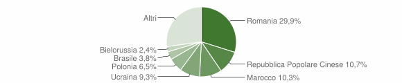 Grafico cittadinanza stranieri - Paola 2009