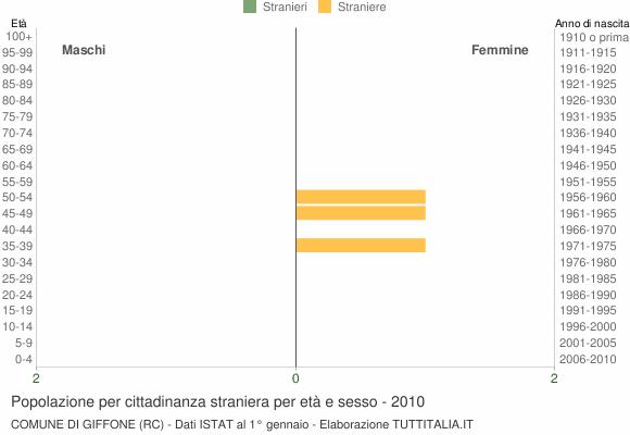 Grafico cittadini stranieri - Giffone 2010