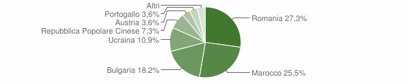 Grafico cittadinanza stranieri - Filandari 2010