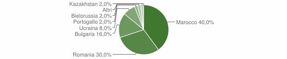 Grafico cittadinanza stranieri - Filandari 2019
