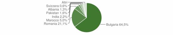 Grafico cittadinanza stranieri - Terranova da Sibari 2019