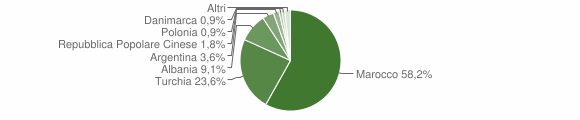 Grafico cittadinanza stranieri - Badolato 2004