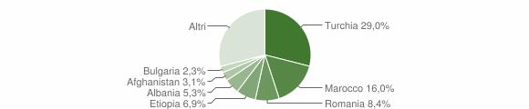 Grafico cittadinanza stranieri - Badolato 2010
