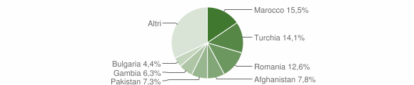 Grafico cittadinanza stranieri - Badolato 2017