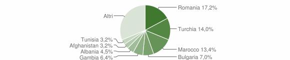 Grafico cittadinanza stranieri - Badolato 2018