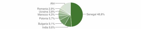 Grafico cittadinanza stranieri - Davoli 2008