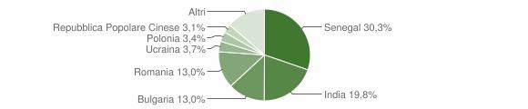 Grafico cittadinanza stranieri - Davoli 2013