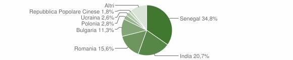 Grafico cittadinanza stranieri - Davoli 2017