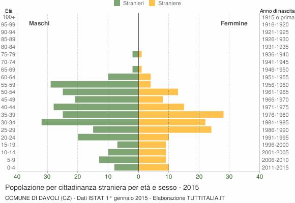 Grafico cittadini stranieri - Davoli 2015