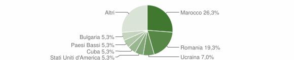 Grafico cittadinanza stranieri - Sant'Andrea Apostolo dello Ionio 2019