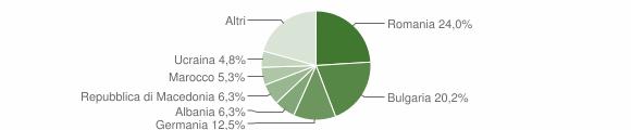 Grafico cittadinanza stranieri - Bisignano 2008
