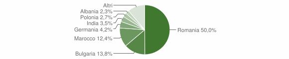 Grafico cittadinanza stranieri - Bisignano 2018