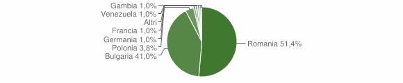 Grafico cittadinanza stranieri - Cleto 2019