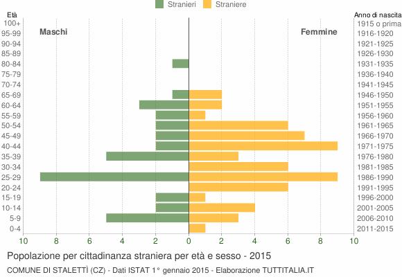 Grafico cittadini stranieri - Stalettì 2015