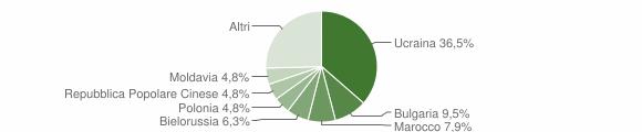 Grafico cittadinanza stranieri - Briatico 2007