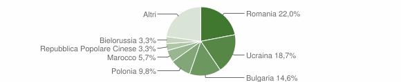 Grafico cittadinanza stranieri - Briatico 2009