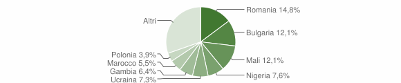 Grafico cittadinanza stranieri - Briatico 2016