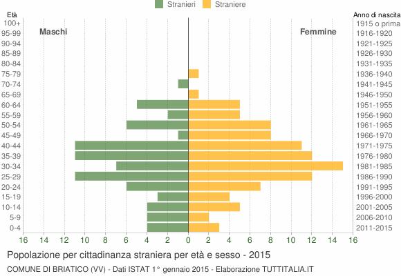 Grafico cittadini stranieri - Briatico 2015