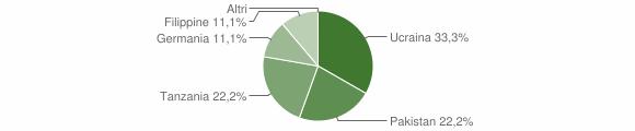 Grafico cittadinanza stranieri - Fabrizia 2006